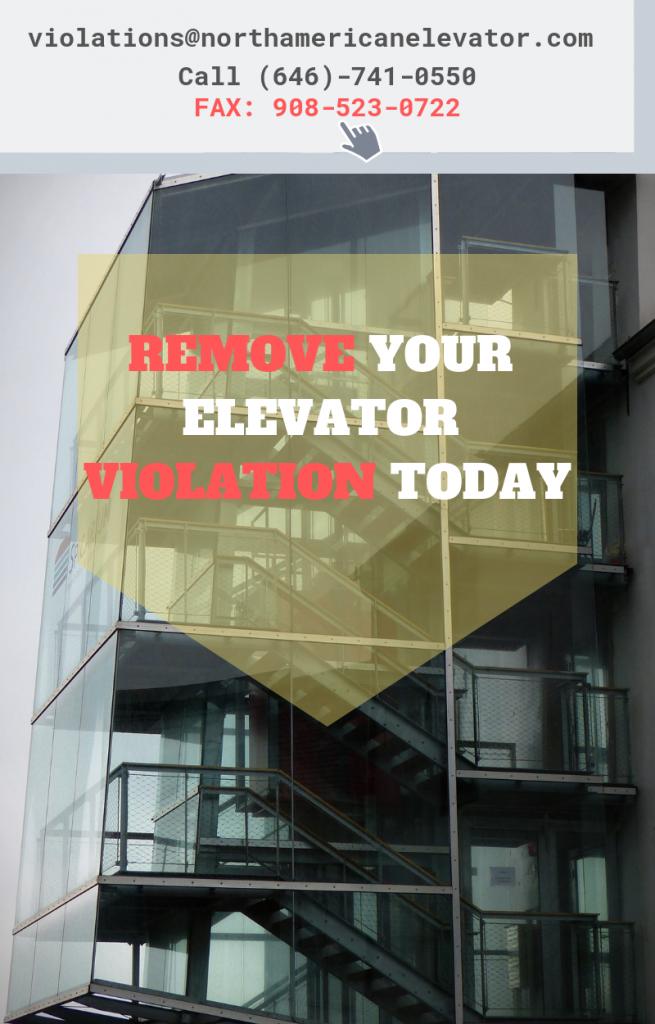 elevator violation removal