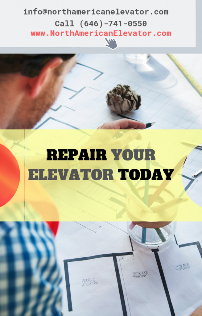 man repairing elevator in new york city