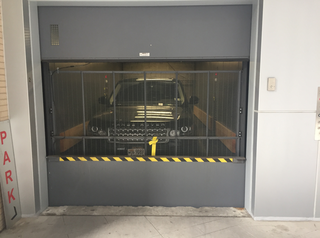 range rover in freight elevator nyc